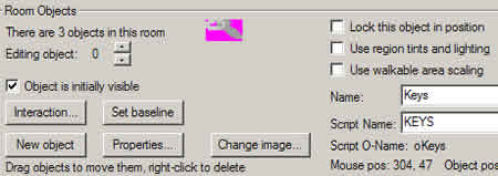 Tutorial AGS, Parte V: Object toolbar