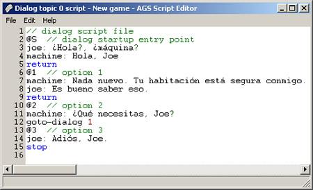 Dialog Script Window