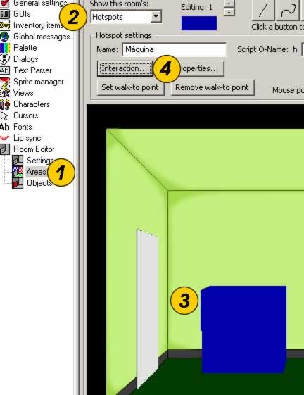 Tutorial AGS, Parte VII: Pasos para obtener la ventana de interacción
