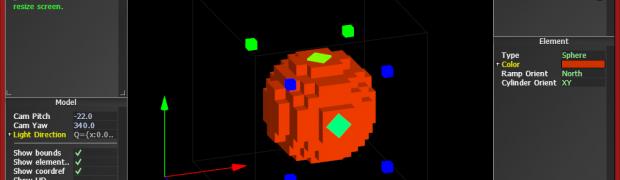 Dancing Cubes, a voxel art tool